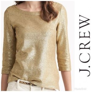 J.Crew Metallic Gold Sweater size x small